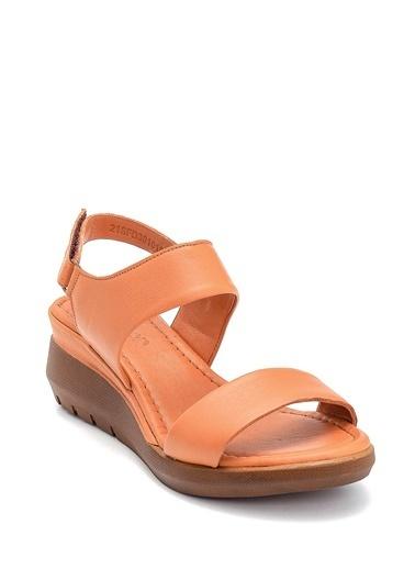 Derimod Kadın Sandalet (12) Konfor Taba